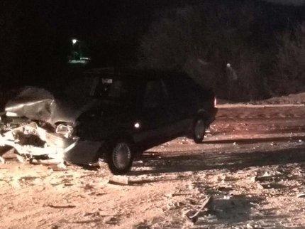 ВБашкирии иностранная машина врезалась вотечественный ВАЗ, пострадали трое