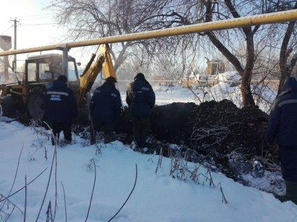 Под Уфой прорвало трубопровод: 4  дома едва неостались без тепла