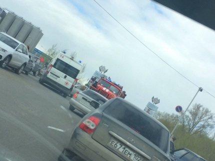 ВУфе госпитализирован ссильными ожогами шофёр горевшего автомобиля