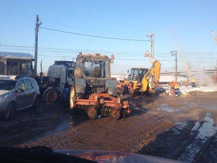 ВУфе наулице Златоустовской прорвало канализацию