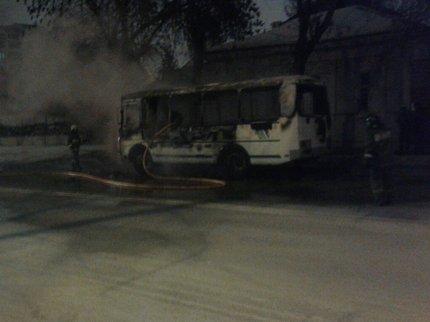 ВУфе горел пассажирский автобус