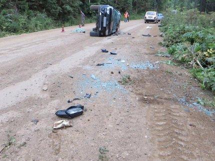 ВБашкирии натрассе перевернулась иностранная машина, шофёр умер