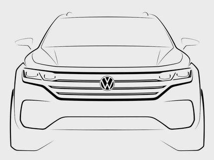 Первые официальное изображение иинформация— Новый VW Touareg