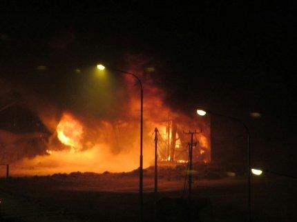 ВУфе вавтосервисе произошёл пожар
