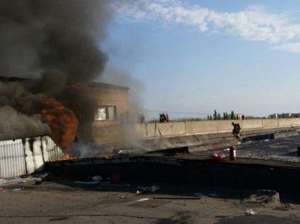 ВСтерлитамаке горела кровля здания завода наплощади 100 квадратных метров