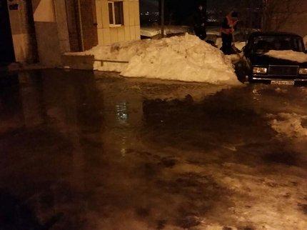 ВУфе устранили утечку воды наулице русская