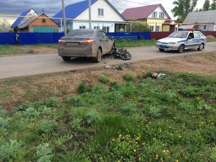 Автоледи без прав сбила 12-летнего ребенка намопеде