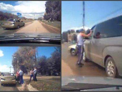 Нетрезвый мужчина втельняшке попытался исчезнуть сместа ДТП вСтерлитамаке