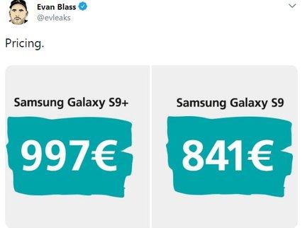 Инсайдер раскрыл цену будущих Самсунг Galaxy S9 иS9+