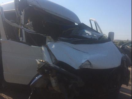 Маршрутку спассажирами протаранил фургон «КамАЗ» вБашкирии