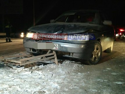 ВУфе шофёр ВАЗ-2112 сбил дорожного рабочего