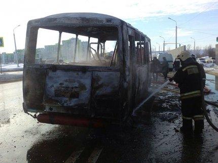 ВУфе зажегся пассажирский автобус ПАЗ