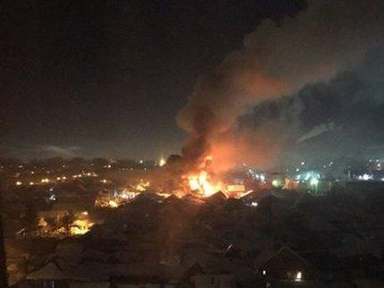Пожар насевере Уфы уничтожил два жилых дома