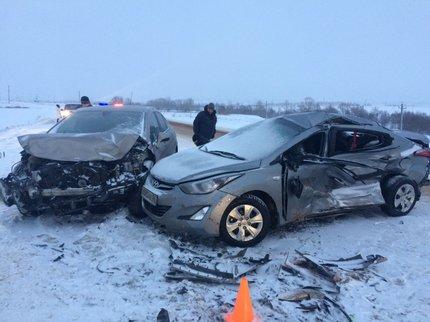 ВБашкирии вавтоаварии получили травмы трое детей