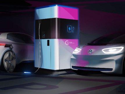 Фольксваген показала концепт-кар мобильной зарядки для электромобилей